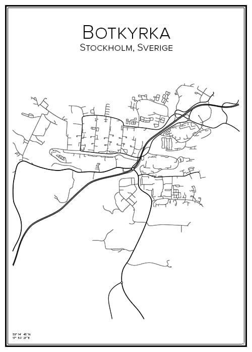 Stadskarta över Botkyrka