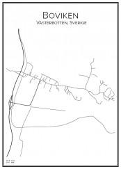 Stadskarta över Boviken