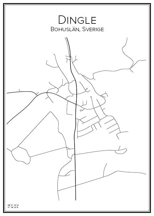 Stadskarta över Dingle