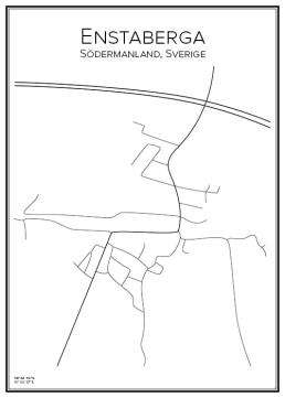 Stadskarta över Enstaberga