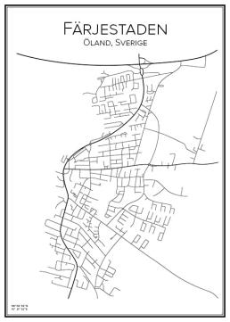 Stadskarta över Färjestaden