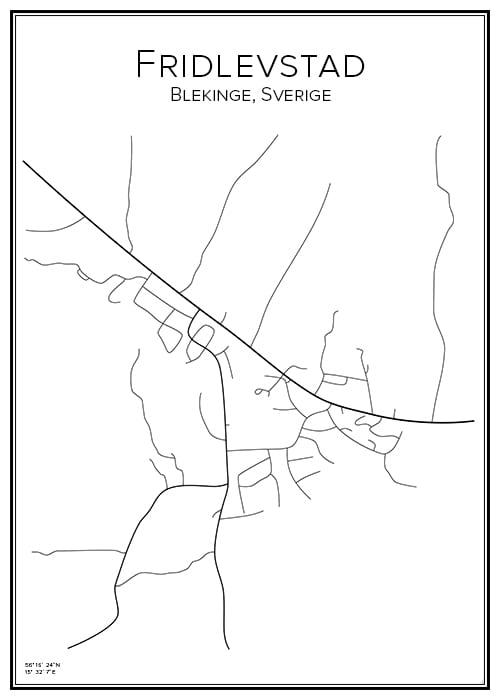 Stadskarta över Fridlevstad