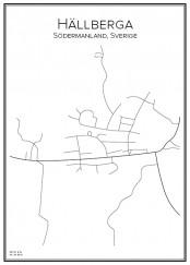 Stadskarta över Hällberga