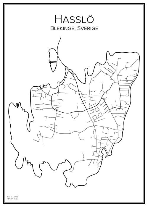 Stadskarta över Hasslö