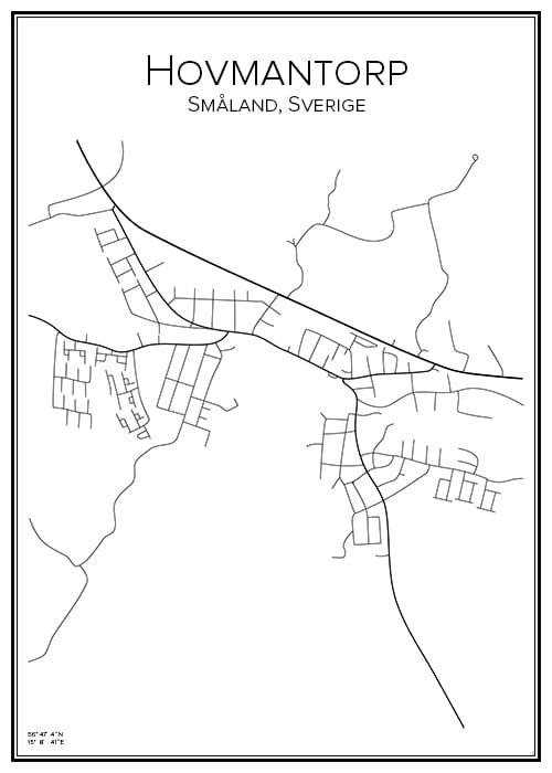 Stadskarta över Hovmantorp