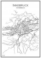 Stadskarta över Innsbruck
