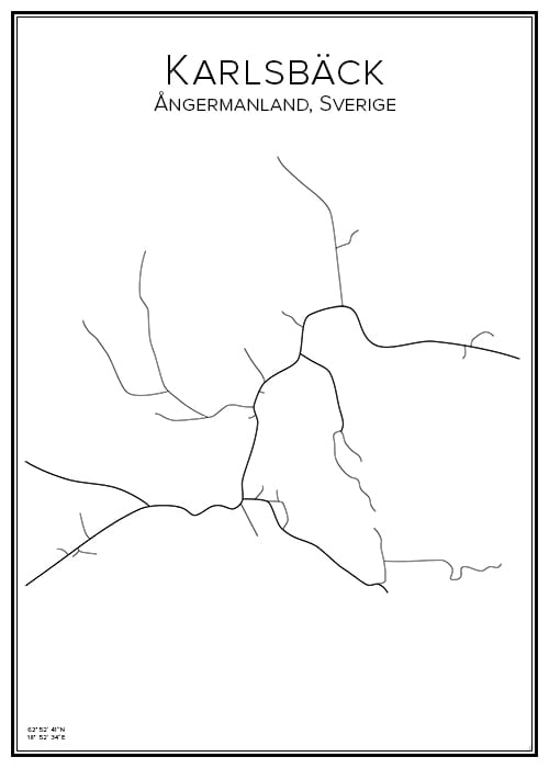 Stadskarta över Karlsbäck