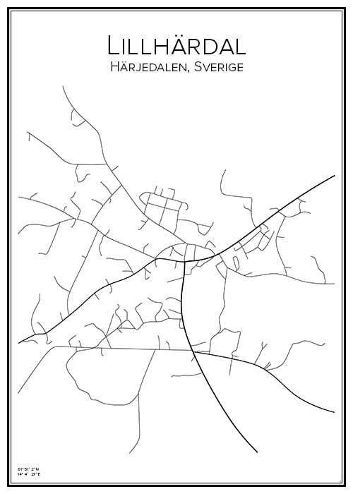 Stadskarta över Lillhärdal