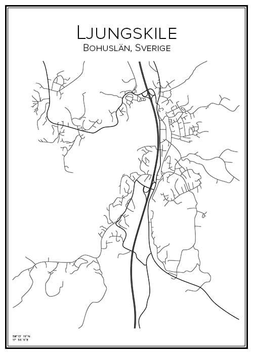 Stadskarta över Ljungskile