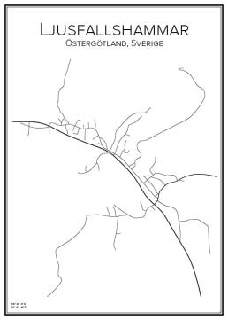 Stadskarta över Ljusfallshammar