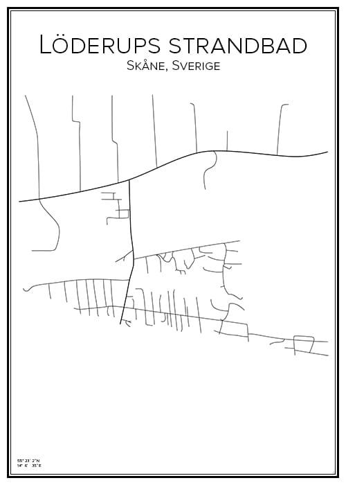 Stadskarta över Löderups strandbad