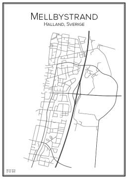 Stadskarta över Mellbystrand