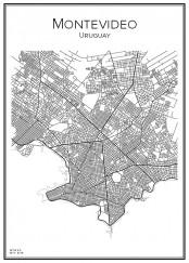 Stadskarta över Montevideo