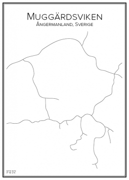 Stadskarta över Muggärdsviken