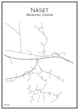 Stadskarta över Näset