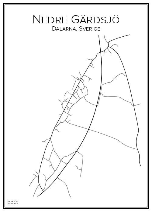 Stadskarta över Nedre Gärdsjö