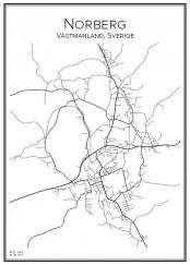 Stadskarta över Norberg