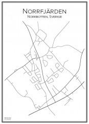 Stadskarta över Norrfjärden
