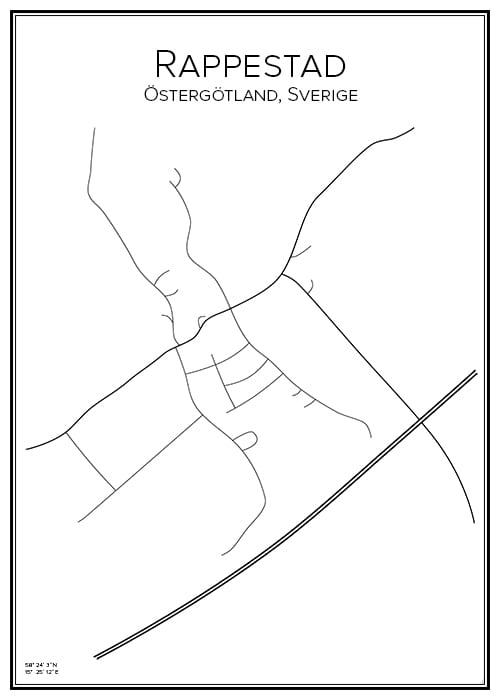 Stadskarta över Rappestad