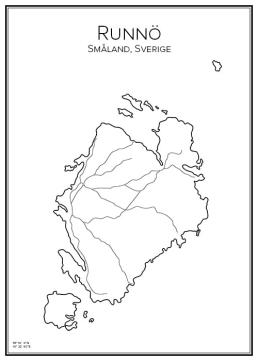 Stadskarta över Runnö