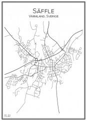 Stadskarta över Säffle