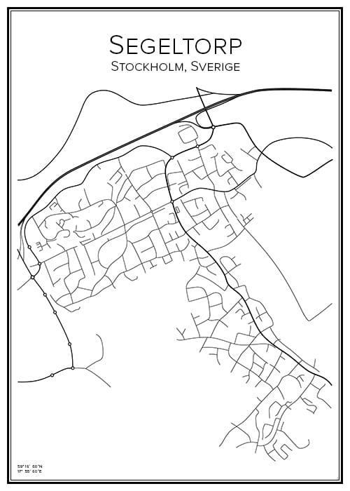 Stadskarta över Segeltorp