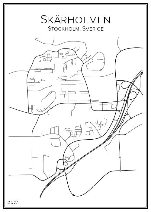 Stadskarta över Skärholmen