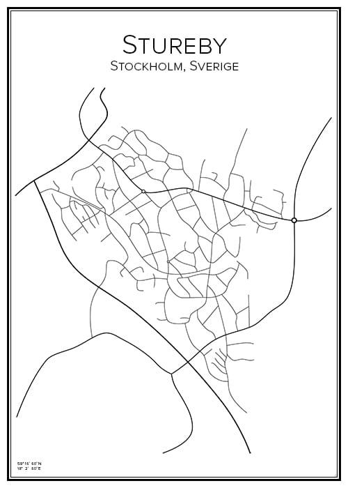 Stadskarta över Stureby