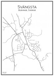 Stadskarta över Svängsta