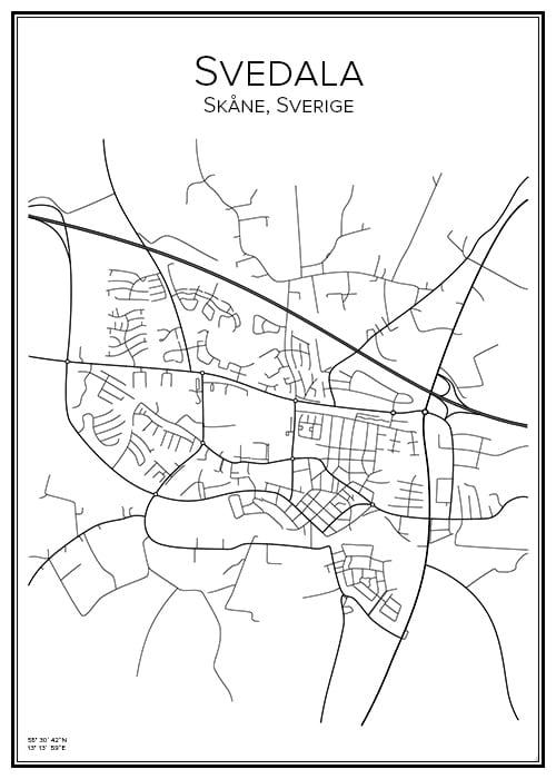 Stadskarta över Svedala