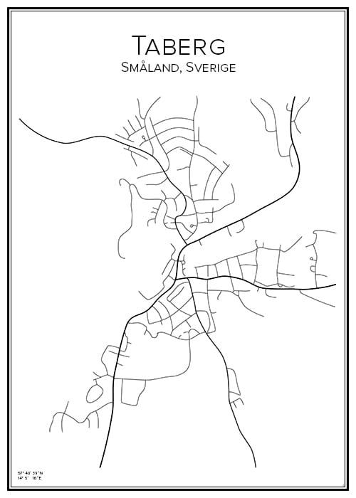 Stadskarta över Taberg