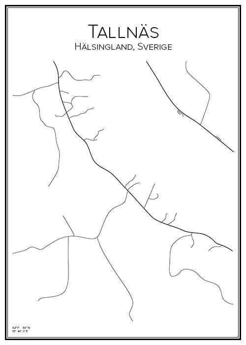 Stadskarta över Tallnäs