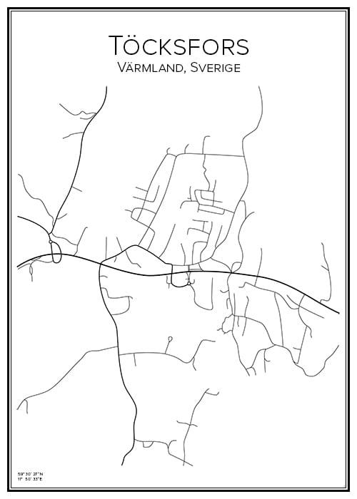 Stadskarta över Töcksfors