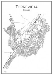 Stadskarta över Torrevieja