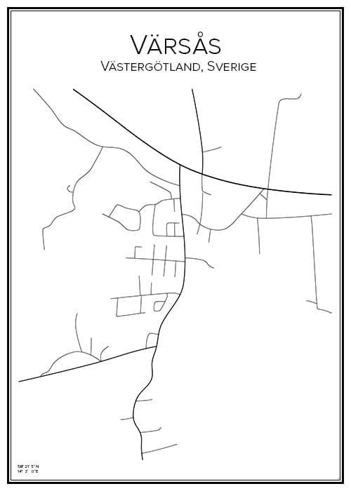 Stadskarta över Värsås