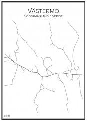 Stadskarta över Västermo