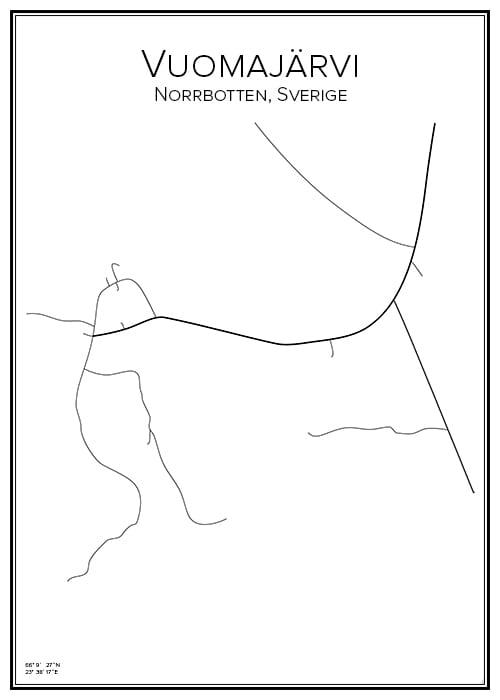 Stadskarta över Vuomajärvi