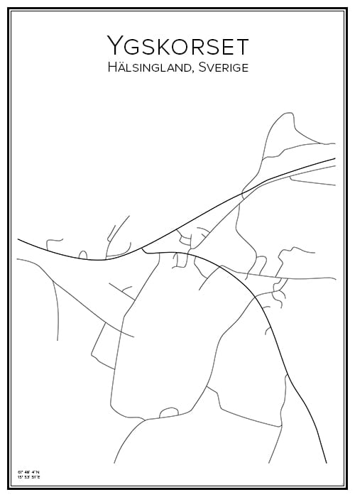 Stadskarta över Ygskorset