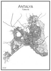 Stadskarta över Antalya