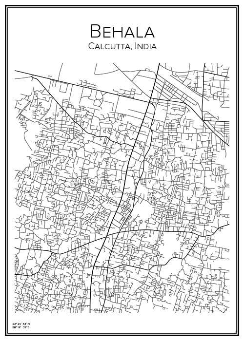 Stadskarta över Behala