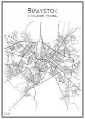 Stadskarta över Białystok