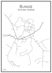 Stadskarta över Bunge