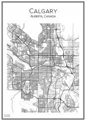 Stadskarta över Calgary