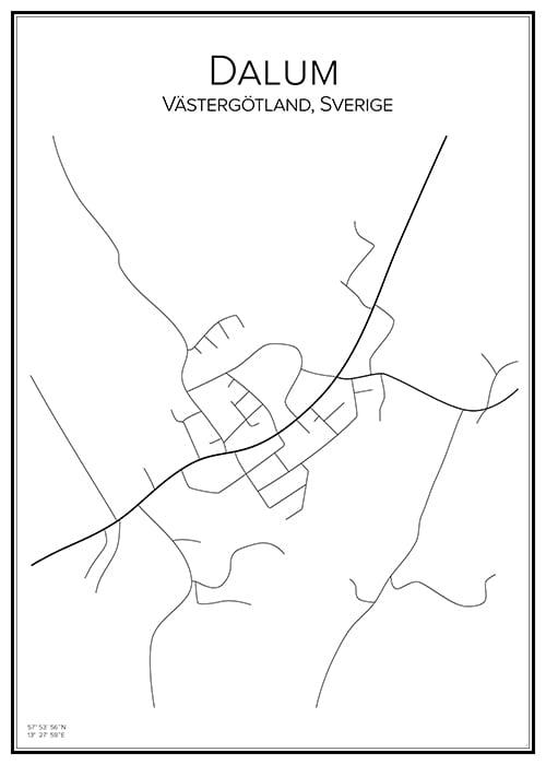 Stadskarta över Dalum