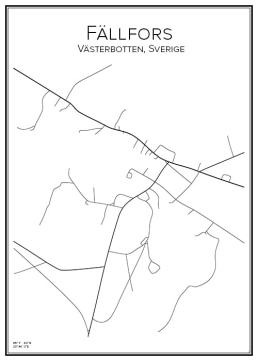 Stadskarta över Fällfors