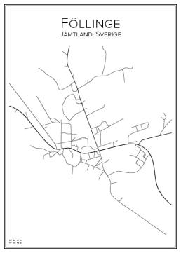 Stadskarta över Föllinge