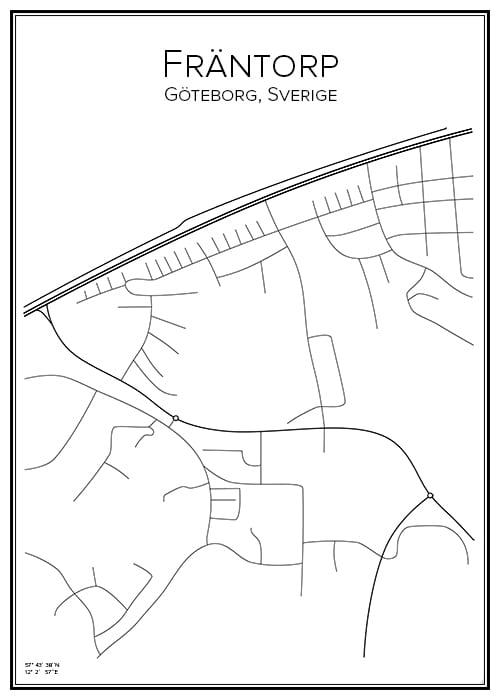 Stadskarta över Fräntorp