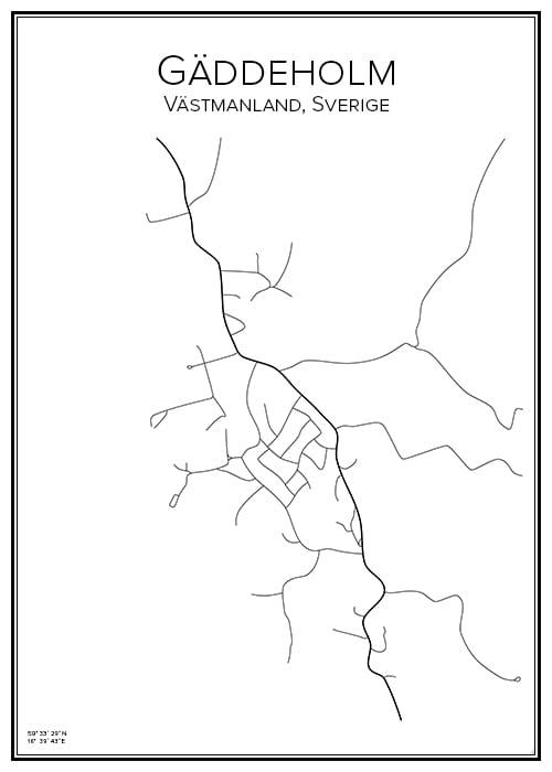 Stadskarta över Gäddeholm