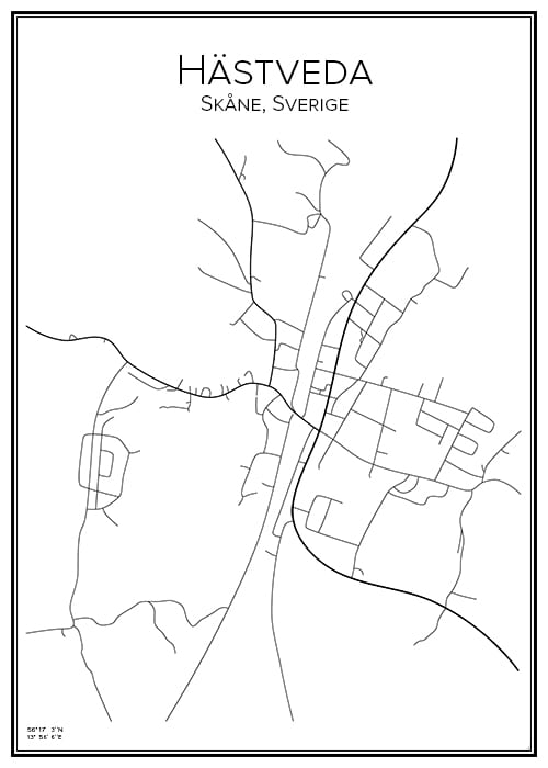 Stadskarta över Hästveda