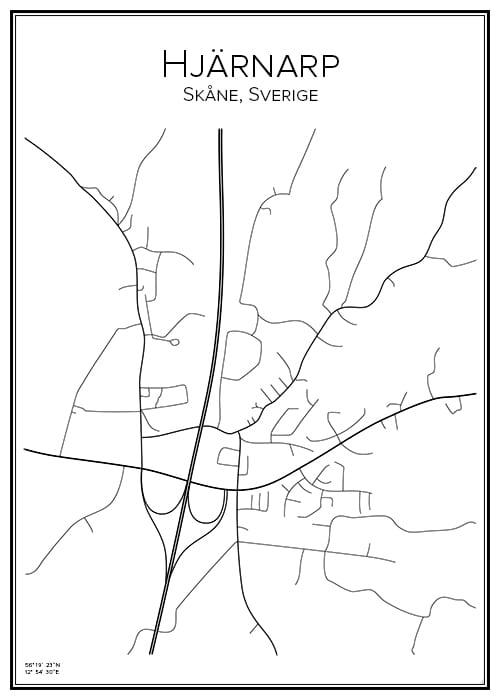 Stadskarta över Hjärnarp